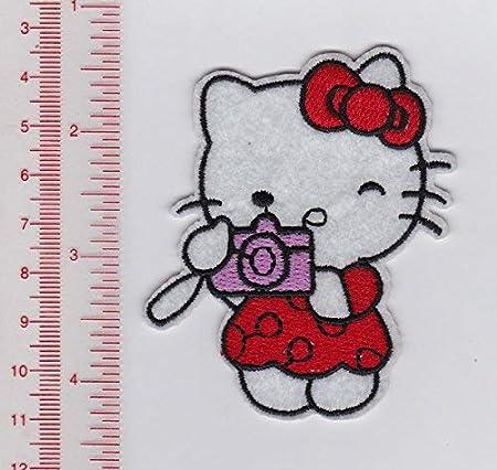 Sanrio Hello Kitty rojo con cámara Teniendo Picture- parches de ...