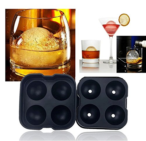 Whiskey Ice Cube Round Ball Maker Mold Tray Sphere Mould Cocktails Party Bar