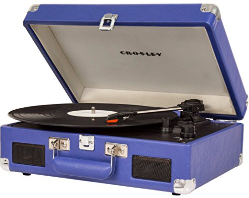 Crosley CR8005C-PR Cruiser II Portable Battery Powered 3-Speed Turntable, Purple