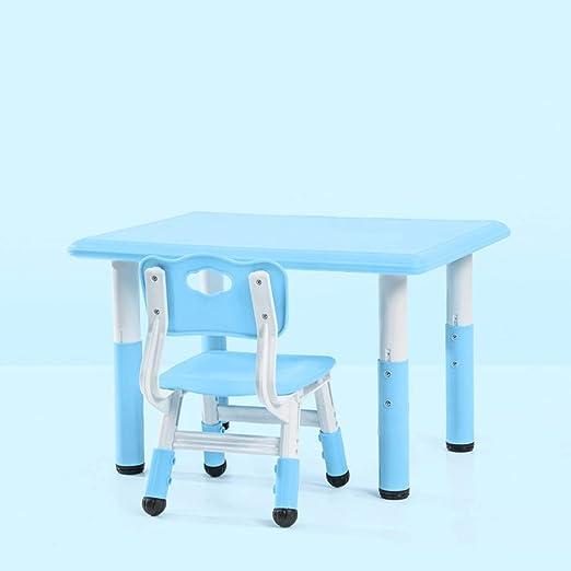 GYiYi Mesa para Infantil con Silla, Mesa Regulable En Altura Y ...