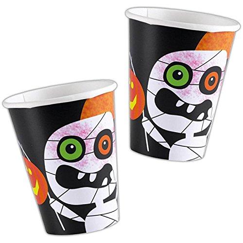 Amscan Halloween Mummy Design Children's Party Paper Cups x 8 -