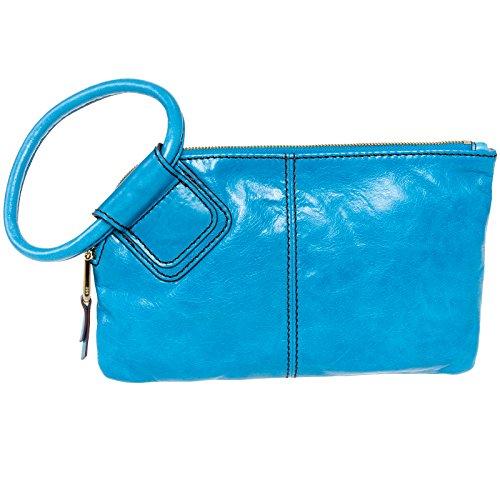 [Hobo Women's Leather Sable Wristlet Clutch Wallet (Capri)] (Hobo Purse)