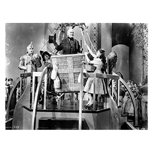 The Wizard of Oz Judy Garland as Dorothy with Cowardly Lion Tin Man and The Wizard Ready to Leave 8 x 10 Photo