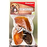 100% Natural Cow Hooves for dogs (3 count) Cow Shoes by Powerpet