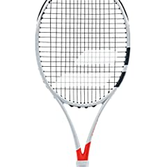 The Babolat 2017 Pure Strike 16x19 Silver/Orange Tennis Racquet is yet another line of true player's sticks developed by Babolat. It features a low-density, spin-inducing string pattern at 16x19, comes strung at 11.3 ounces, and at 4 p...