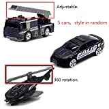 5pcs Assorted SWAT Die Cast Metal Alloy Car Models Mini Play Vehicles Truck Cars Toy for Kids Toddlers Boys (Styles May Vary)