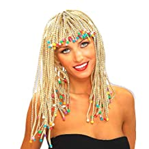 Forum Novelties Women's Adult Blonde Corn Row with Beads Costume Wig