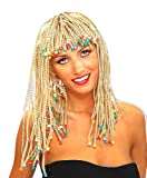 Forum Novelties Women's Adult Corn Row with Beads Costume Wig, Blonde, One Size