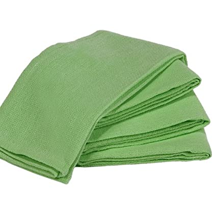 Image of Towels by Doctor Joe 9-SUR-LG16-100EA Surgical Huck Lime Green 16' x 25' Pre-Washed Towel, (Pack of 100) Cleaning Cloths