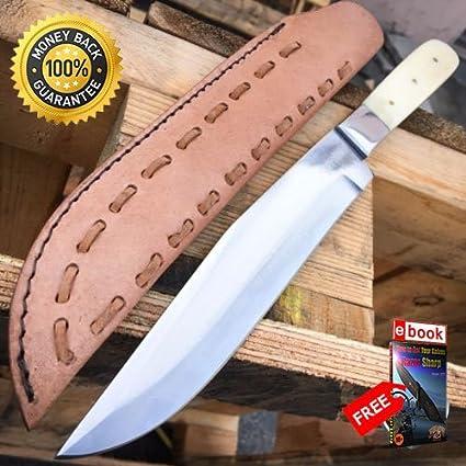 13'' Apache Bowie Mountain Man Trade Patch Knife Real Bone