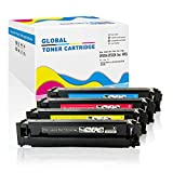 4 Pack New Compatible for HP 202A (CF500A/CF501A/CF502A/CF503A) Color Toner Cartridge with Chip ready for use in LaserJet Pro M254dw,M254nw, M281FDN, M281FDW, M280NW series