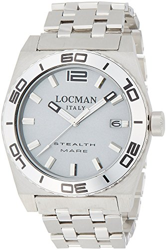 LOCMAN watch stealth Mare Quartz rotating bezel Men's 0211 021100AK-AGKBR0 Men's [regular imported goods]