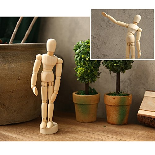 Drawing art figure mannequin manikin wooden model for sketching charcoal Kids children posable educational toys Home Office Desk Decoration 8''Couple (Posable Model)