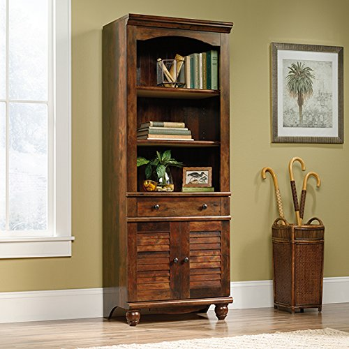 Sauder Door (Sauder Harbor View 3 Shelf 2 Door Bookcase in Curado Cherry)