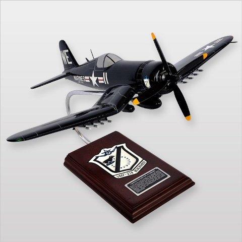 Mastercraft Collection MCF4U4BSW F4U-4 Black Sheep Squadron Usmc Wood Desktop (Usmc F4u Corsair)