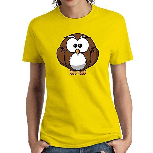 Women's Cartoon Owl Animal Clipart Cute Tshirts Funny]()