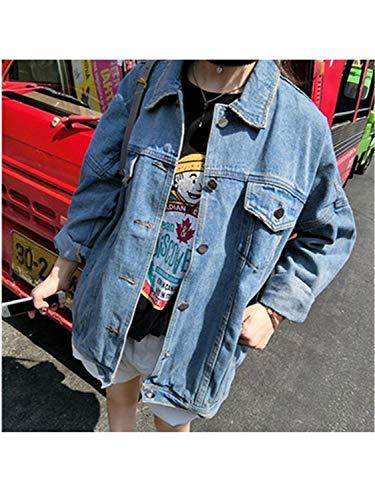 Autunno Più Studente Casual Jeans Di Formato Femminile Popolare Pio Colore Pragmaticv Inverno Grande Giacca Il Moda 1 Puro fw0Eddq