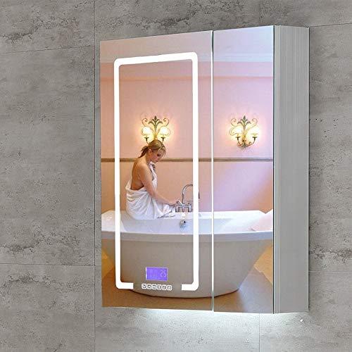 DZWLYX Bathroom Cabinet Mirror Mirror Cabinet Wall Mounted Bathroom Mirror/Cabinet Lights Shaver -