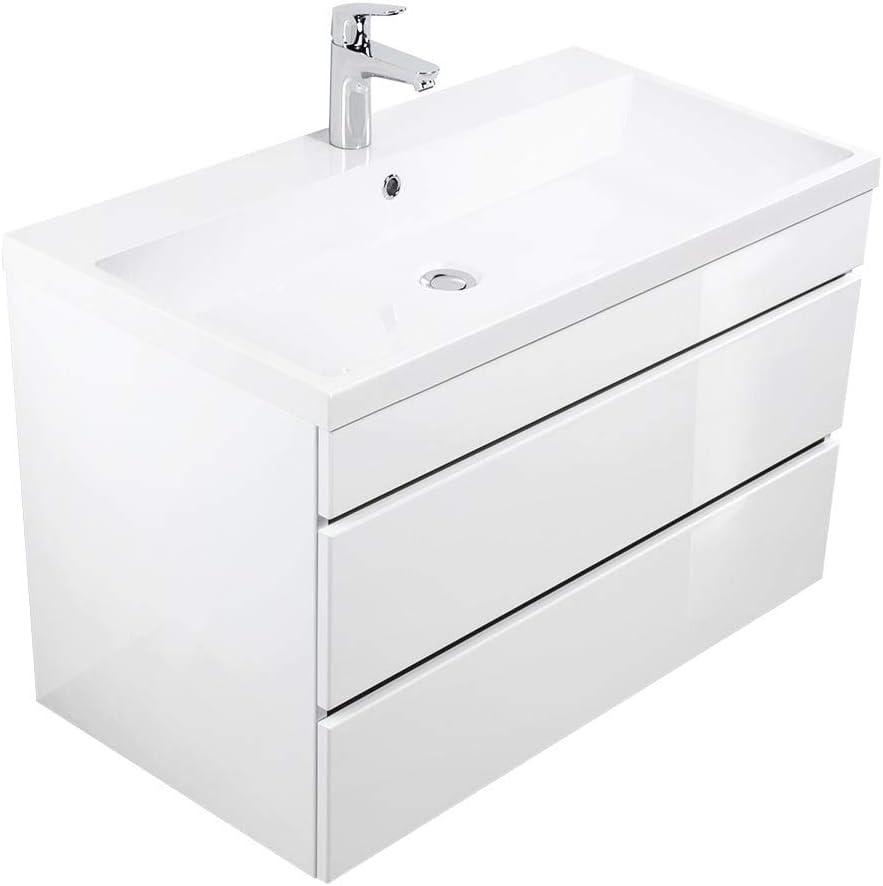 cassetti senza maniglie Mobile bagno Via 90 bianco lucido