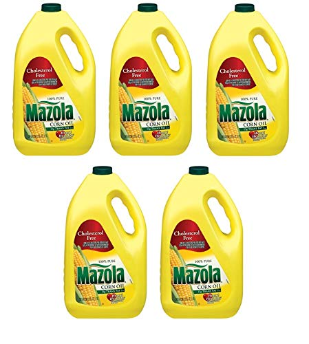 Mazola 100% Pure Corn Oil, 128 oz, naturally cholesterol free (Pack of 5) by Mazola
