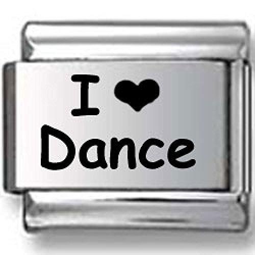 (I Love Dance Italian charm )