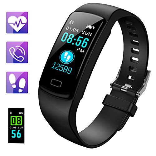Fitness Tracker, Activity Tracker Fitness Watch with Heart Rate Monitor Color Screen,Waterproof Smart Bracelet with Step…
