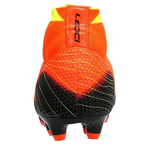 Aleader Performance - Botas de fútbol de Caucho para hombre naranja