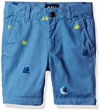 The Children's Place Big Boys' Printed Short, Blue Riviera, 8