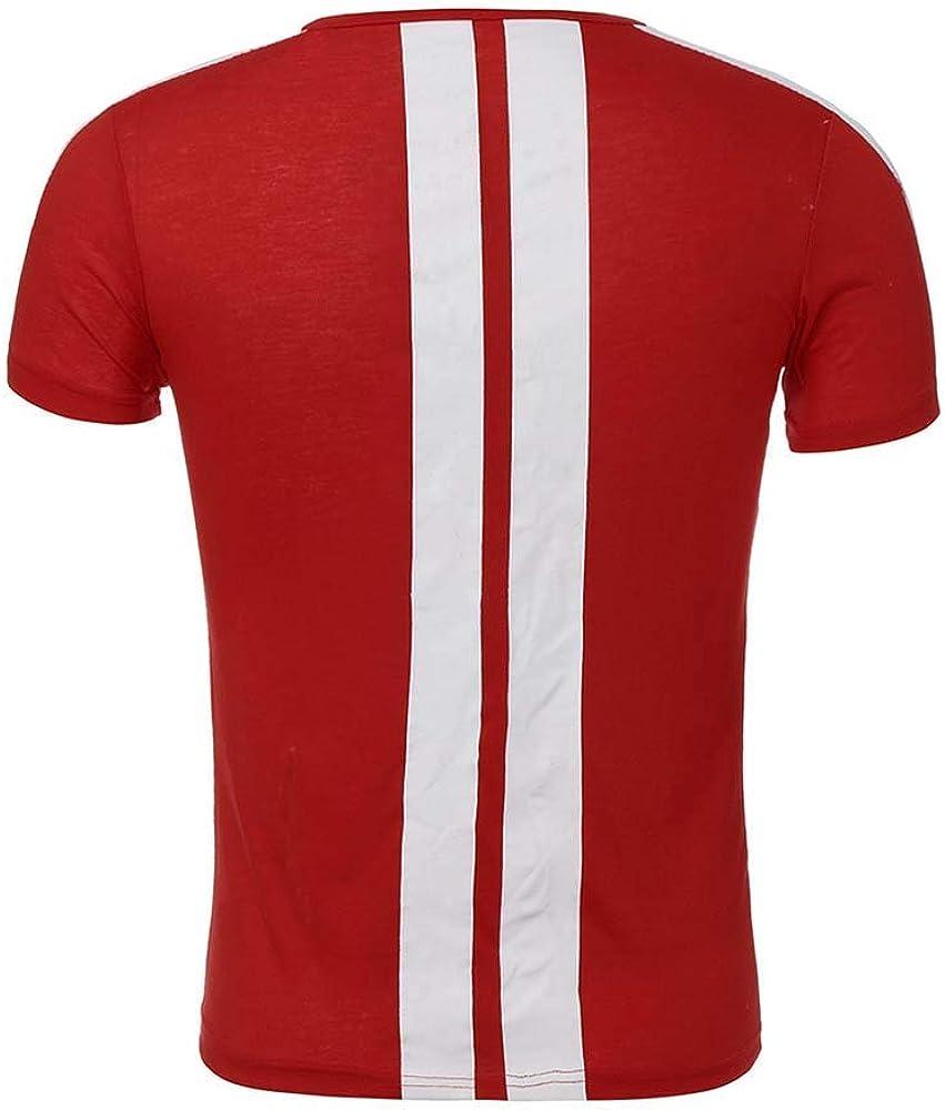 de manga corta camiseta pantalones cortos de pista Conjunto de ch/ándal de verano para hombre de 2 piezas ajustada