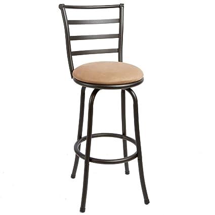 Groovy Amazon Com Efd Round Metal Bar Stool With Back Swiveling Uwap Interior Chair Design Uwaporg