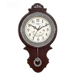 ZHENAI Creative European - Style Living Room Wall Clock, Modern Personalized Wall Clock Luxury High - Grade Large Quiet Bell Office