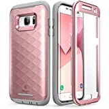 Galaxy S7 Edge Case, Clayco [Hera Series] Full-body Rugged Case with Built-in Screen Protector for Samsung Galaxy S7 Edge (2016 Release) (RoseGold)