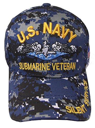 0b549c5d68e Galleon - United States Navy Veteran Hat Baseball Cap (Navy Camo Submarine)