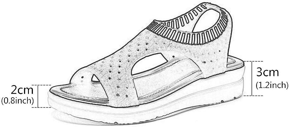 Léger Sportive Sandales,Élasticité Respirant Maille Courir Chaussures,Épaissir Seul Extérieur Sandal,Été Chaussures De Sport pour Les Femmes Rose