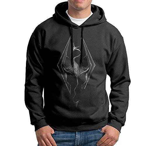 Men's Skyrim Logo Hoodies Black