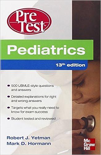 Kết quả hình ảnh cho Pediatrics PreTest Self-Assessment and Review