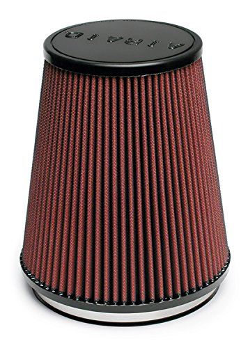 Airaid 700-461 Universal Clamp-On Air Filter: Round Tapered; 6 in (152 mm) Flange ID; 8 in (203 mm) Height; 7.25 in (184 mm) Base; 5 in (127 mm) Top