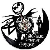 Funny Nightmare Before Christmas Vinyl Clock