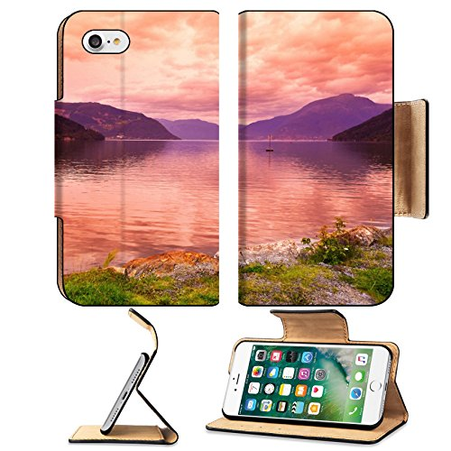 Liili Apple Iphone 7 Flip Pu Leather Wallet Case Sunset In Fjord Hardanger Norway Nature And Travel Background Iphone7 Image Id 39021222