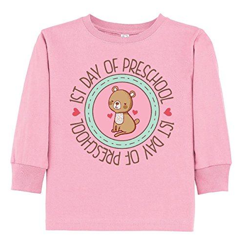 inktastic - First Day of Preschool Toddler Long Sleeve T-Shirt 2T Pink 316ed ()