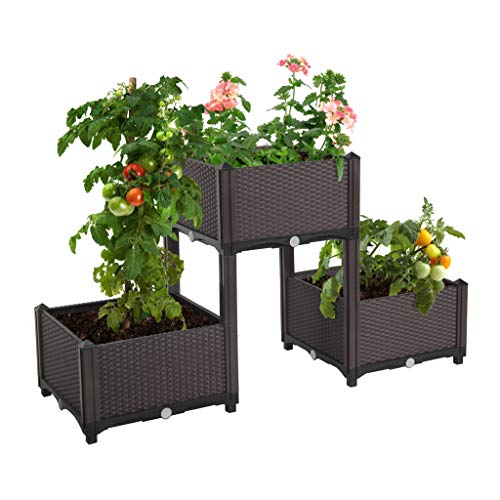 D'vine Dev Elevated Raised Garden Bed Kits for Flowers and Vegetable, Easy Assembly Planting Box Raised Garden Kit, Standing Planter for Garden, Patio, Backyard, Porch and Home Decoration