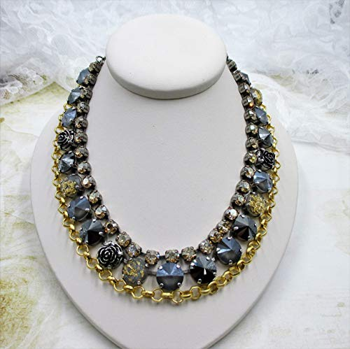 Glam Squad Multi-Strand Crystal Necklace