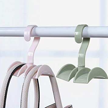 360 Degree Hook Bag Closet Organizer Rod Hanger Handbag Hanging Rack Holder