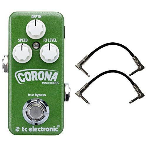 (TC Electronic Corona Chorus MINI Effects Pedal w/ Patch Cables)