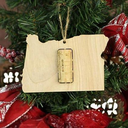 Amazoncom Wooden Shoe Llc Oregon Wine Cork Christmas Tree