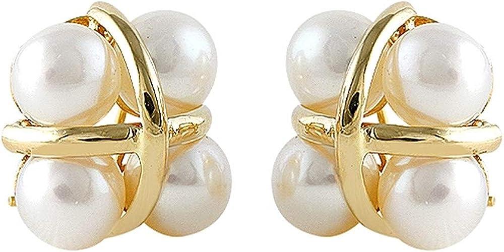 Pendientes Oro Amarillo 18k modelo Sofía (8 perlas cultivadas boton 6-6,5mm.)
