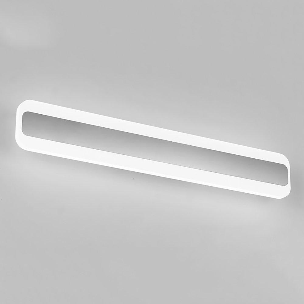 LJHA jingqiandeng LEDモダン防水フォグミラーフロントライトトイレウォールランプバスルームミラーキャビネットランプをメイクアップ (色 : 暖かい光, サイズ さいず : 70cm-24W) B07L3QLX4T 60cm-20W|白色光 白色光 60cm-20W