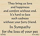 Furry Friend Sympathy Greeting Rubber Stamp By DRS Designs