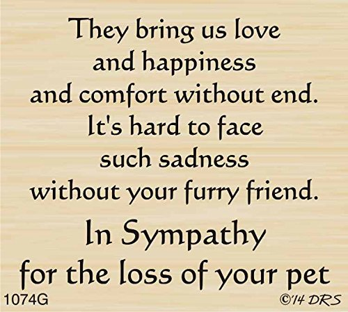 Furry Friend Sympathy Greeting Rubber Stamp By DRS Designs by DRS Designs Rubber Stamps