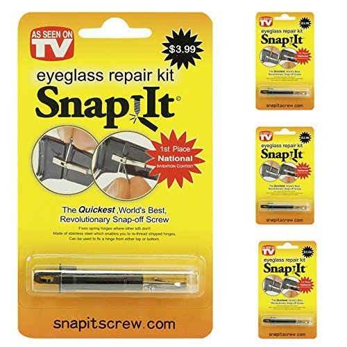 Set of 3 Snap It Eyeglass Repair Kits - As Seen On TV - One for Home, Work & Travel! by Glasses ()